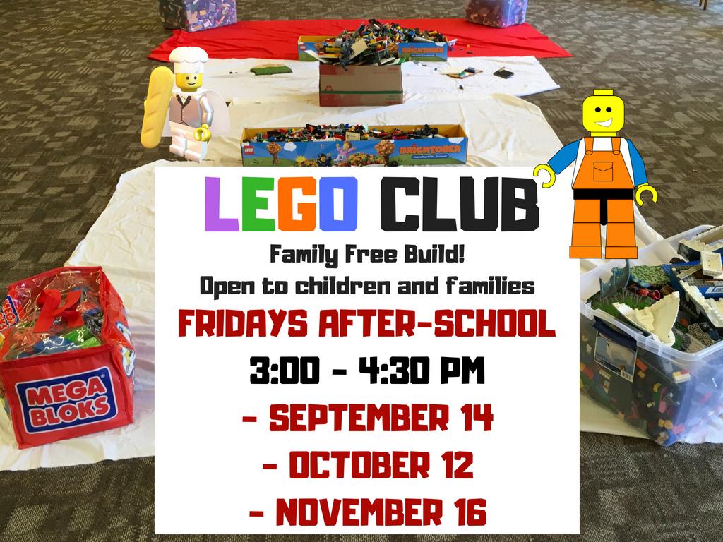 Lego Club Calendar Meeting List Lompoc Ca