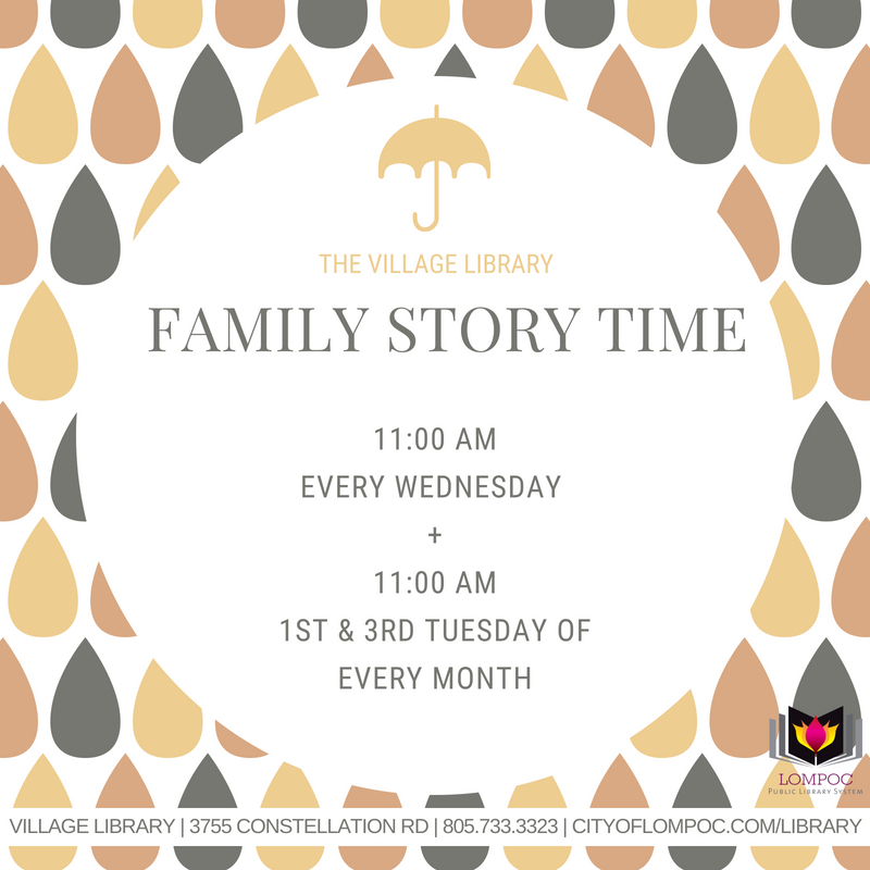 VILLAGE LIBRARYFAMILY STORY TIME