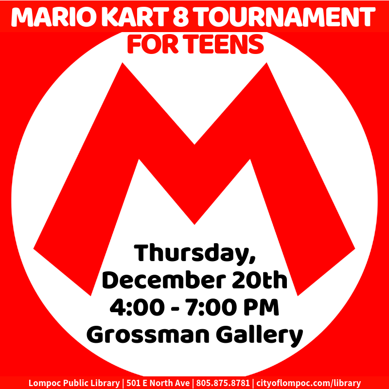 Mario Kart 8 Tournament for Teens