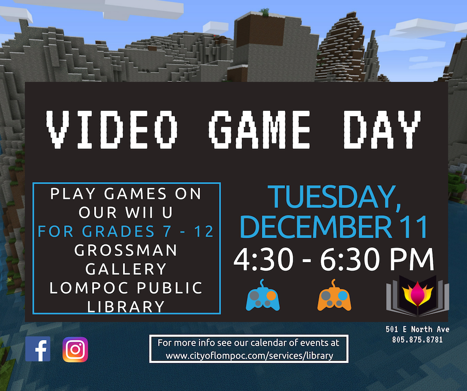 December Video Game Day