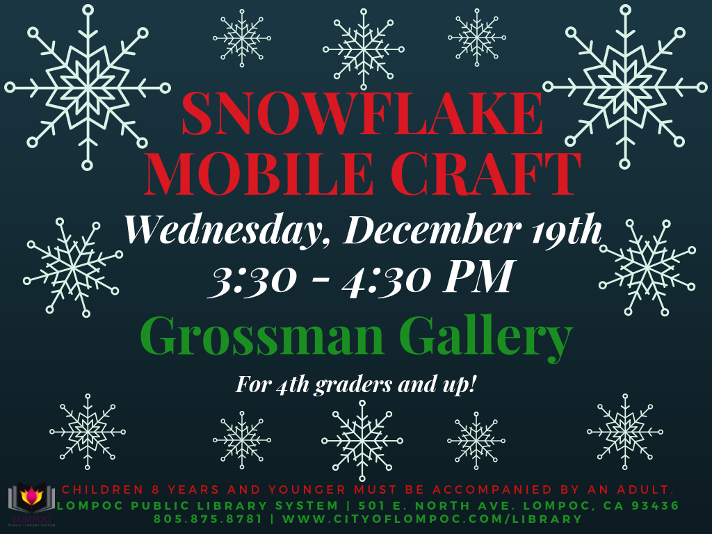 Snowflake Mobile Craft Program