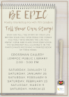 Be EpicPoetry Workshop