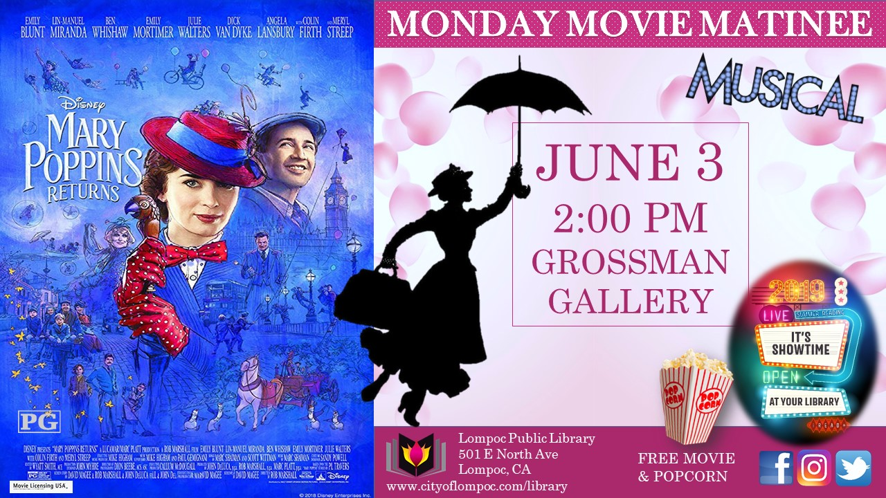 Monday Movie - Mary Poppins Returns 6.3.19