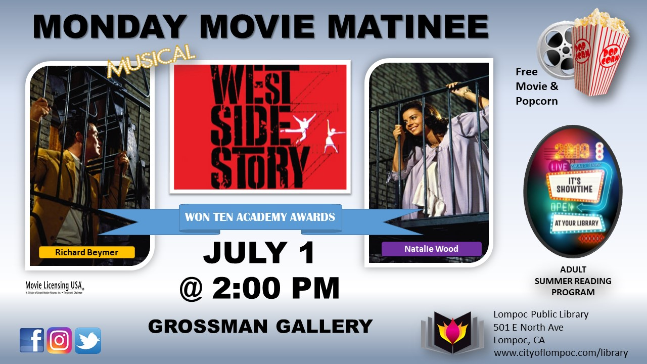 Monday Movie West Side Story 7. 1.19
