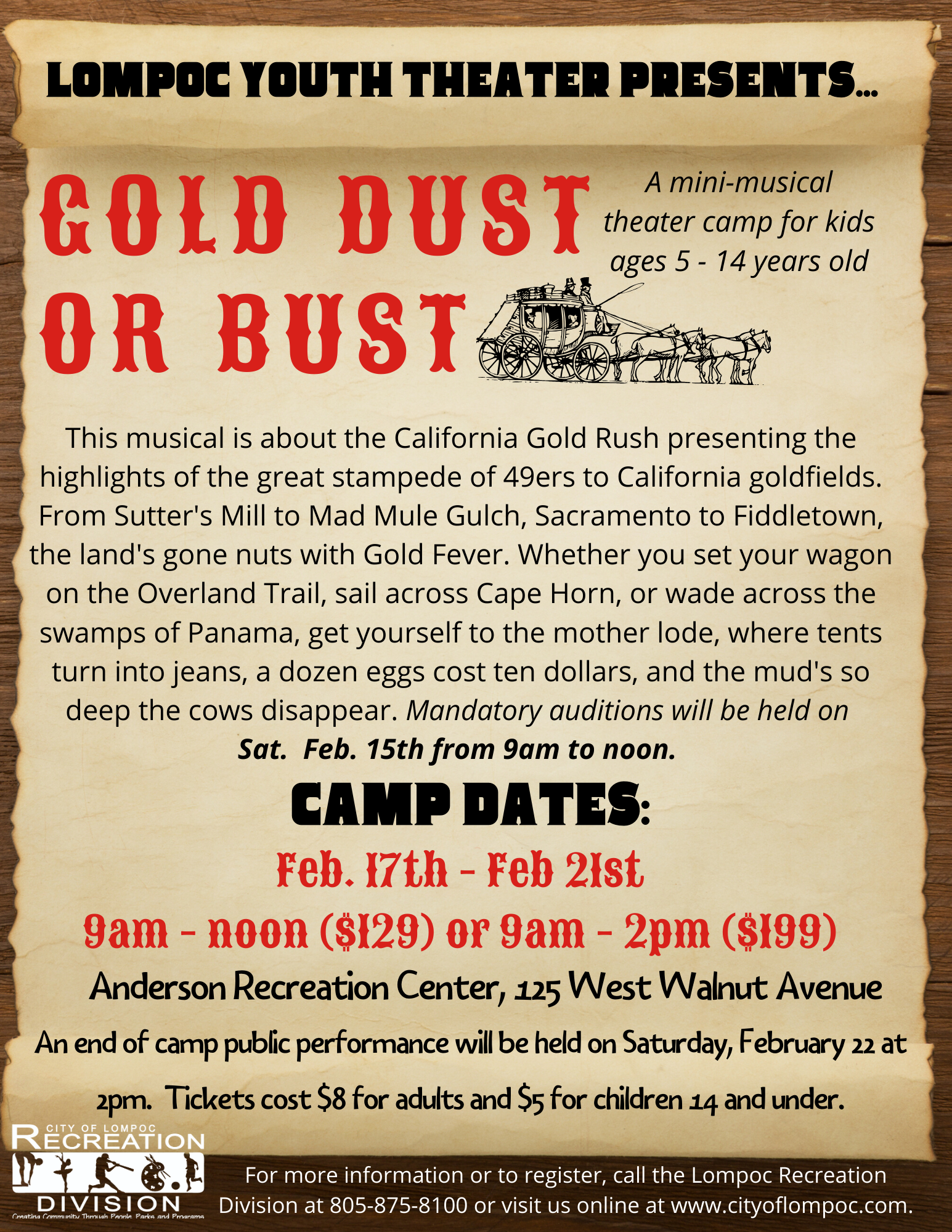Gold, Dust or Bust - Feb 2020 Camp